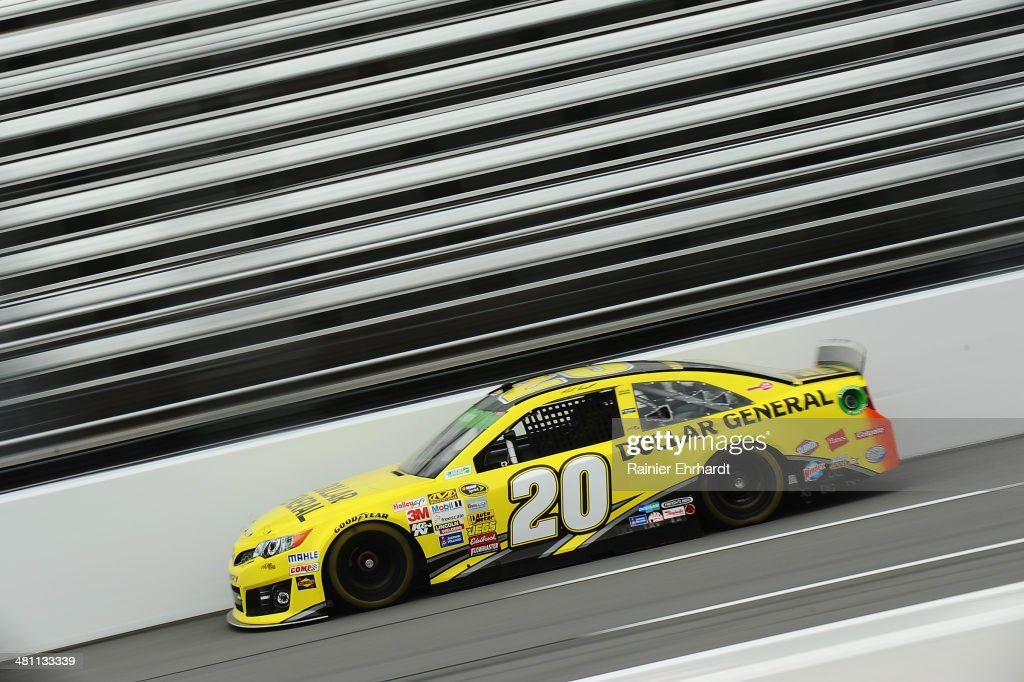 Matt Kenseth, driver of the #20 Dollar General Toyota, practices for the NASCAR Sprint Cup Series STP 500 at Martinsville Speedway on March 28, 2014 in Martinsville, Virginia.