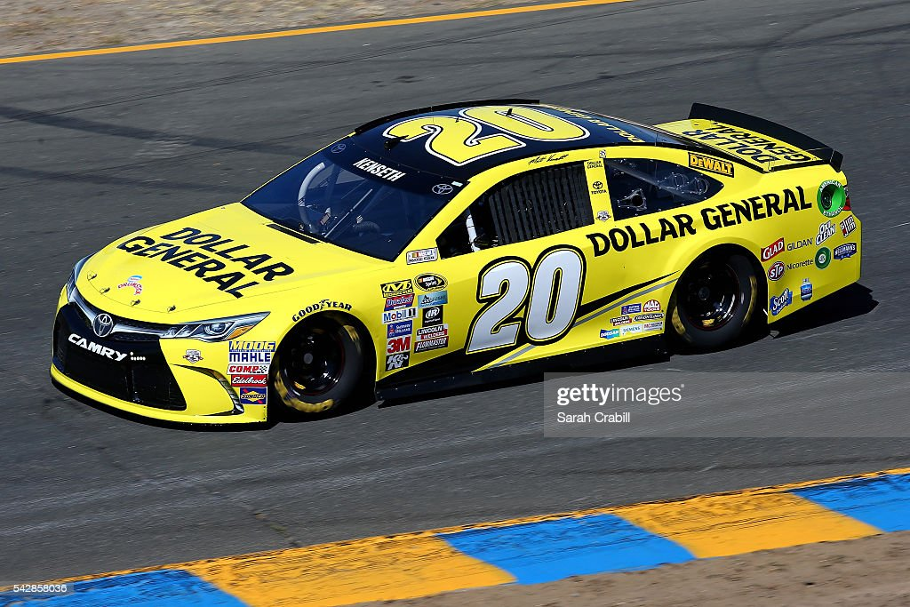 <a gi-track='captionPersonalityLinkClicked' href=/galleries/search?phrase=Matt+Kenseth&family=editorial&specificpeople=204192 ng-click='$event.stopPropagation()'>Matt Kenseth</a>, driver of the #20 Dollar General Toyota, practices for the NASCAR Sprint Cup Series Toyota/Save Mart 350 at Sonoma Raceway on June 24, 2016 in Sonoma, California.