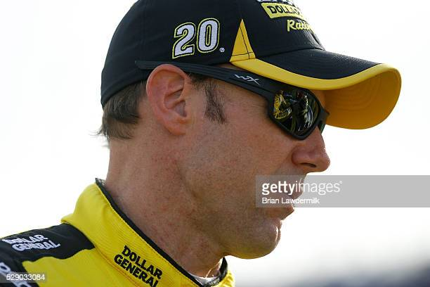 Matt Kenseth driver of the Dollar General Toyota prepares to drive during the NASCAR Sprint Cup Series Go Bowling 400 at Kansas Speedway on May 7...