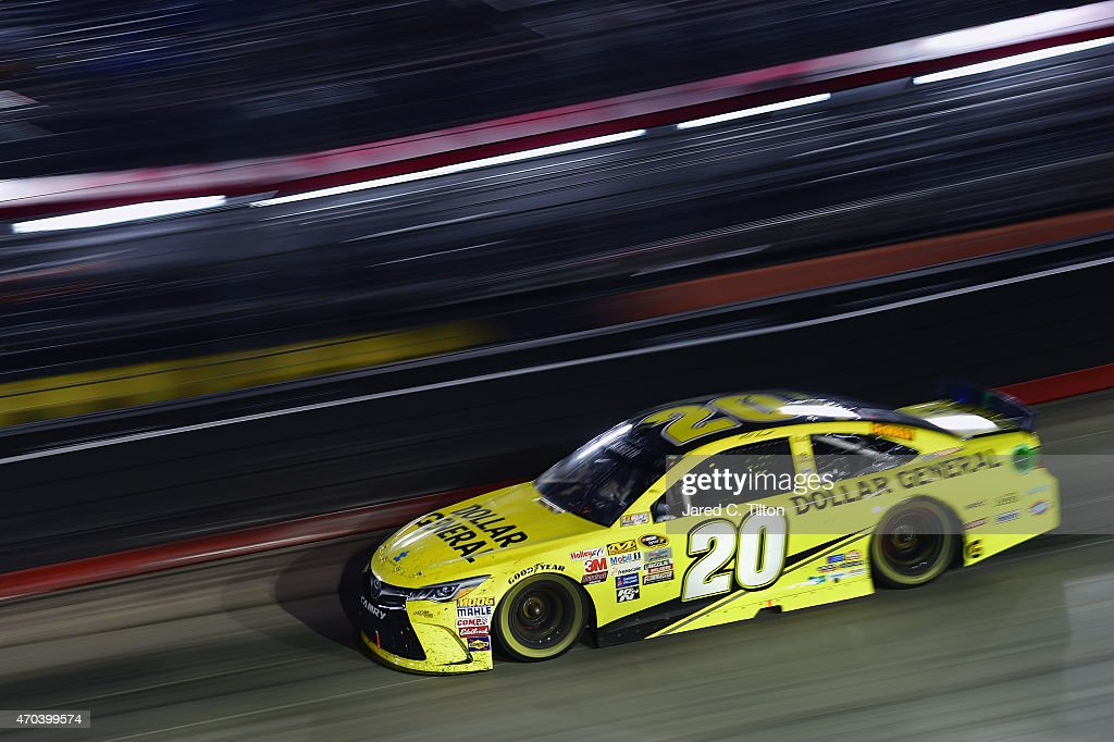 Matt Kenseth driver of the Dollar General Toyota races during the NASCAR Sprint Cup Series Food City 500 at Bristol Motor Speedway on April 19 2015...