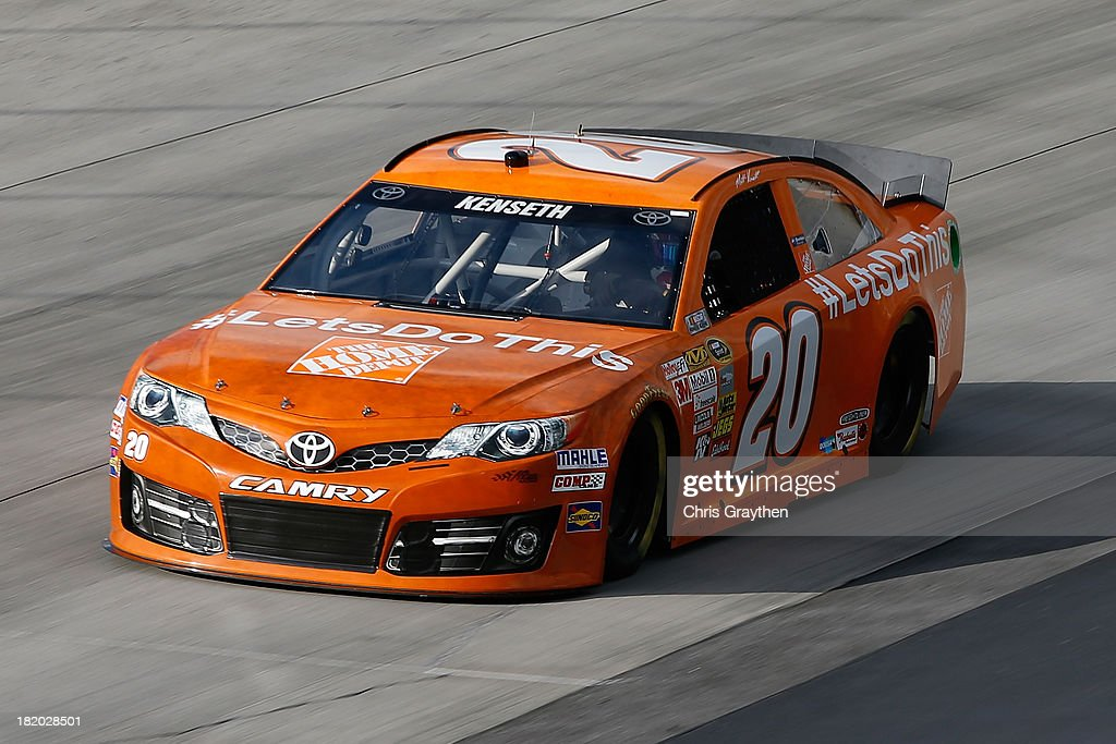 Matt Kenseth, driver of the #20 Home Depot 'Let's Do This' Toyota, practices for the NASCAR Sprint Cup Series AAA 400 at Dover International Speedway on September 27, 2013 in Dover, Delaware.