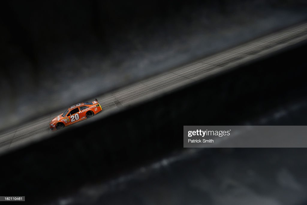 Matt Kenseth, driver of the #20 Home Depot 'Let's Do This' Toyota, practices for the NASCAR Sprint Cup Series AAA 400 at Dover International Speedway on September 28, 2013 in Dover, Delaware.