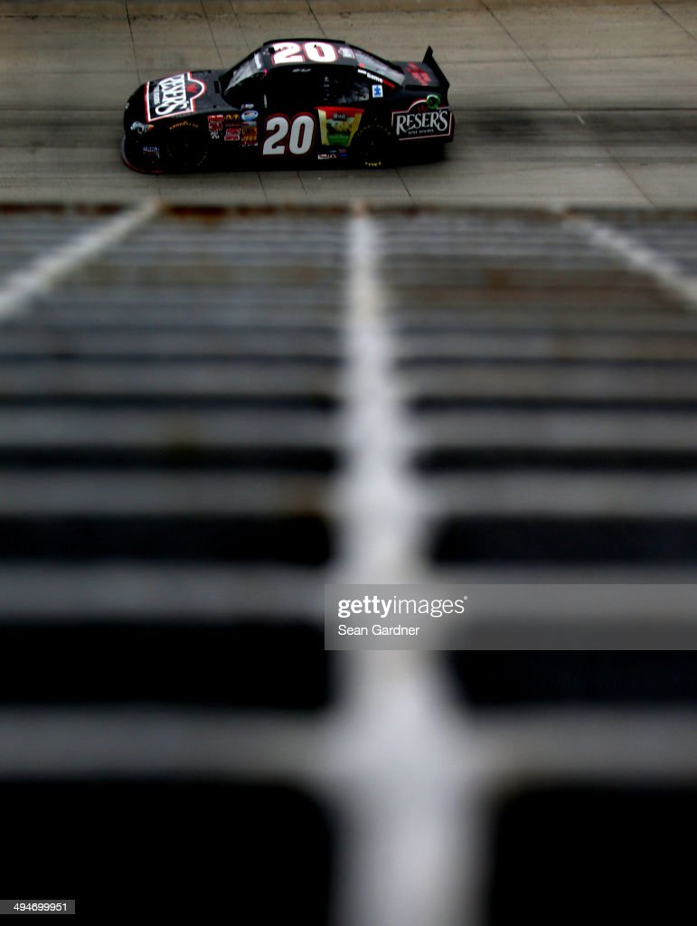 Matt Kenseth, driver of the #20 Resers Toyota, practices for the NASCAR Nationwide Series Buckle Up 200 Presented by Click it or Ticket at Dover International Speedway on May 30, 2014 in Dover, Delaware.