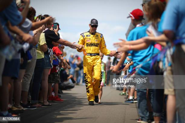 Matt Kenseth driver of the Toyota Care Toyota is introduced prior to the Monster Energy NASCAR Cup Series I Love NY 355 at The Glen at Watkins Glen...