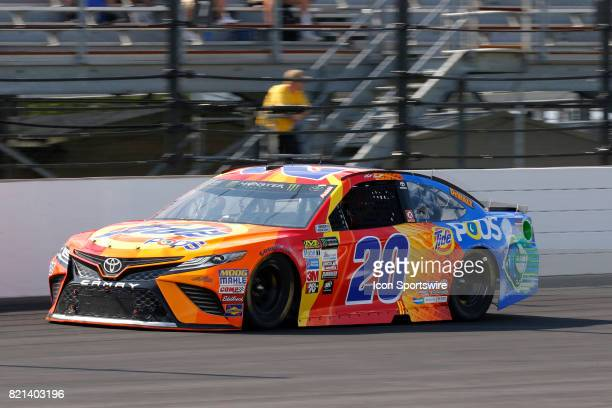 Matt Kenseth Joe Gibbs Racing Toyota Camry heads into the front stretch during the NASCAR Monster Energy Cup Series Brantley Gilbert Big Machine...