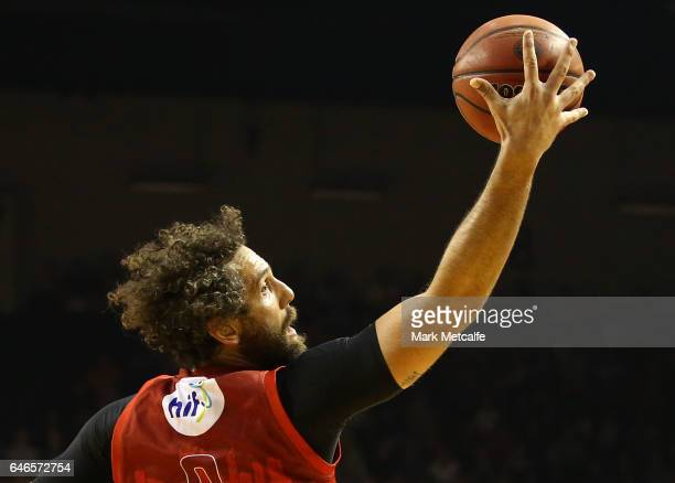 Matt Knight of the Wildcats in action during game two of the NBL Grand Final series between the Perth Wildcats and the Illawarra Hawks at WIN...
