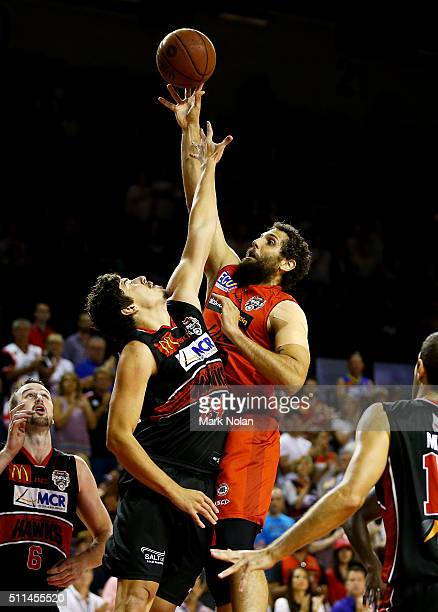 Matt Knight of the Wildcats shoots for the basket during the NBL semi final match between the Illawarra Hawks and the Perth Wildcats at Wollongong...