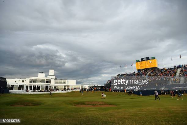 Matt Kuchar and Jordan Spieth of the United States walk up the 18th fairway during the third round of the 146th Open Championship at Royal Birkdale...