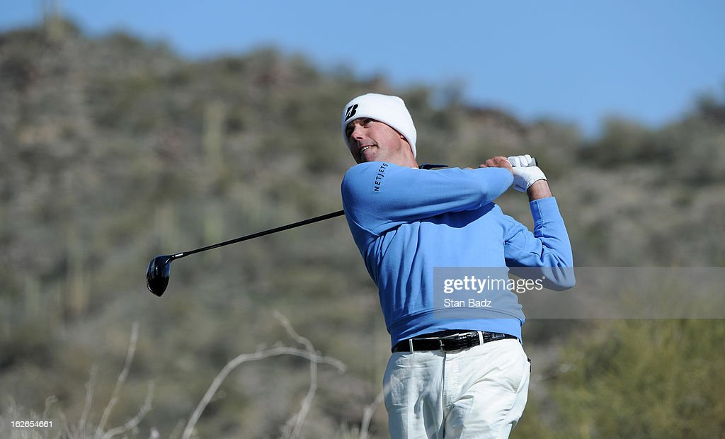 Matt Kuchar hits a drive on the tenth hole during the final round of the World Golf Championships-Accenture Match Play Championship at The Golf Club at Dove Mountain on February 24, 2013 in Marana, Arizona.