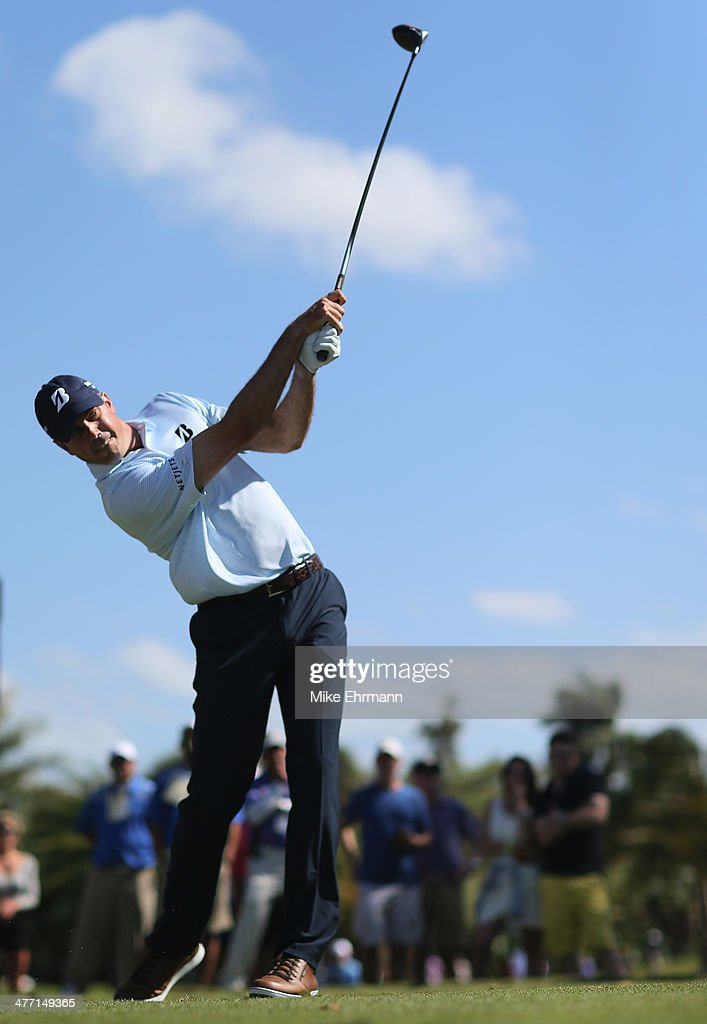 <a gi-track='captionPersonalityLinkClicked' href=/galleries/search?phrase=Matt+Kuchar&family=editorial&specificpeople=243226 ng-click='$event.stopPropagation()'>Matt Kuchar</a> hits his tee shot on the seventh hole during the second round of the World Golf Championships-Cadillac Championship at Trump National Doral on March 7, 2014 in Doral, Florida.