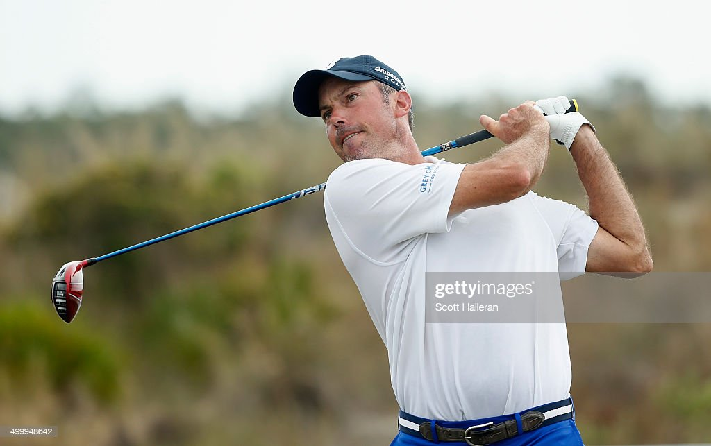 <a gi-track='captionPersonalityLinkClicked' href=/galleries/search?phrase=Matt+Kuchar&family=editorial&specificpeople=243226 ng-click='$event.stopPropagation()'>Matt Kuchar</a> of the United States hits his tee shot on the ninth hole during the second round of the Hero World Challenge at Albany, The Bahamas on December 4, 2015 in Nassau, Bahamas