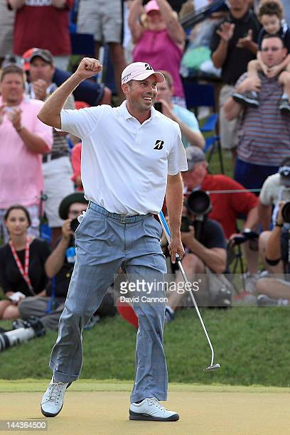 Matt Kuchar of the United States holes the winning putt on the par 4 18th green during the final round of THE PLAYERS Championship held at THE...