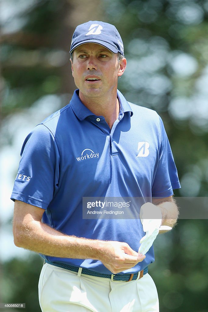 <a gi-track='captionPersonalityLinkClicked' href=/galleries/search?phrase=Matt+Kuchar&family=editorial&specificpeople=243226 ng-click='$event.stopPropagation()'>Matt Kuchar</a> of the United States looks on from the 11th green during the second round of the 114th U.S. Open at Pinehurst Resort & Country Club, Course No. 2 on June 13, 2014 in Pinehurst, North Carolina.