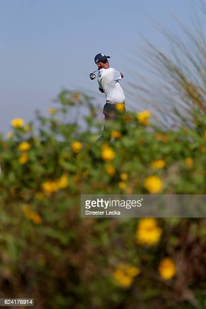Matt Kuchar of the United States plays his tee shot on the 8th hole during the second round of the RSM Classic at Sea Island Resort Seaside Course on...