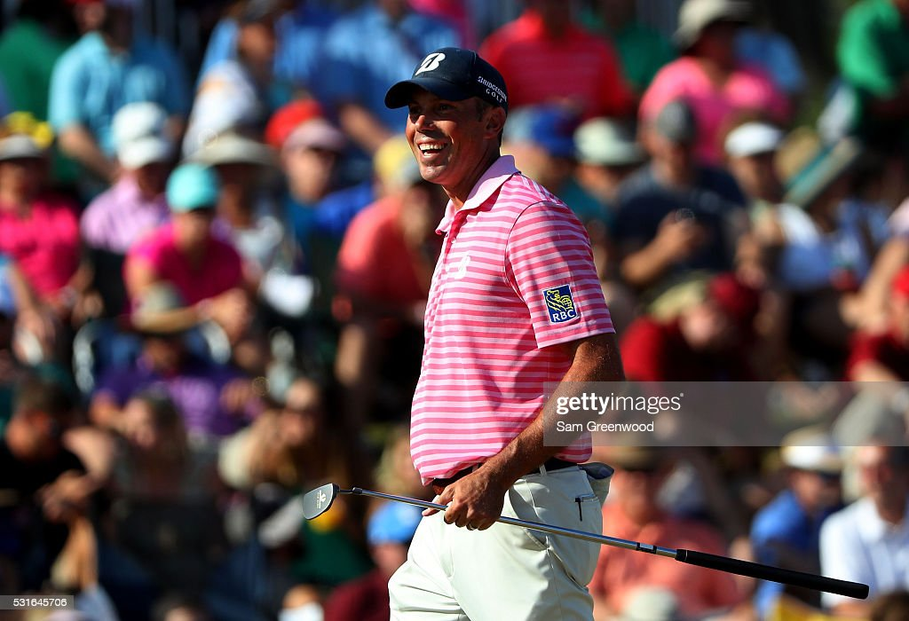 <a gi-track='captionPersonalityLinkClicked' href=/galleries/search?phrase=Matt+Kuchar&family=editorial&specificpeople=243226 ng-click='$event.stopPropagation()'>Matt Kuchar</a> of the United States reacts during the final round of THE PLAYERS Championship at the Stadium course at TPC Sawgrass on May 15, 2016 in Ponte Vedra Beach, Florida.