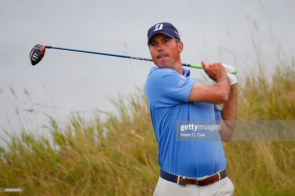 <a gi-track='captionPersonalityLinkClicked' href=/galleries/search?phrase=Matt+Kuchar&family=editorial&specificpeople=243226 ng-click='$event.stopPropagation()'>Matt Kuchar</a> of the United States watches his tee shot on the 13th hole during the first round of the 2015 PGA Championship at Whistling Straits on August 13, 2015 in Sheboygan, Wisconsin.