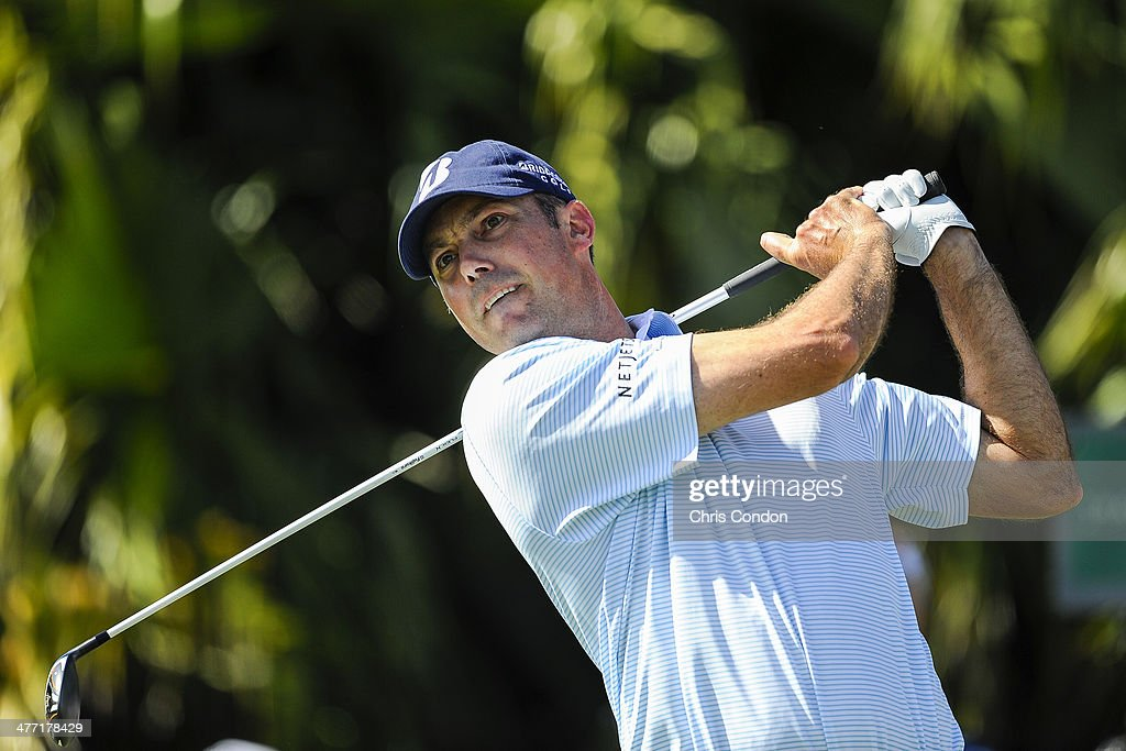 Matt Kuchar tees off on the eighth hole during the second round of the World Golf Championships-Cadillac Championship at Blue Monster, Trump National Doral, on March 7, 2014 in Doral, Florida.