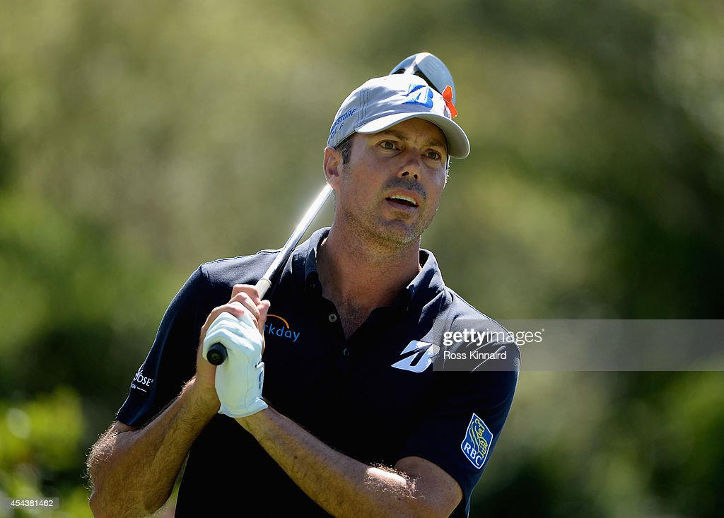 <a gi-track='captionPersonalityLinkClicked' href=/galleries/search?phrase=Matt+Kuchar&family=editorial&specificpeople=243226 ng-click='$event.stopPropagation()'>Matt Kuchar</a> tees off on the seventh hole during the second round of the Deutsche Bank Championship at the TPC Boston on August 30, 2014 in Norton, Massachusetts.