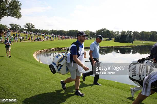 Matt Kuchar walks the 17th hole during the second round of the PGA Championship on August 11 2017 at Quail Hollow Club in Charlotte NC