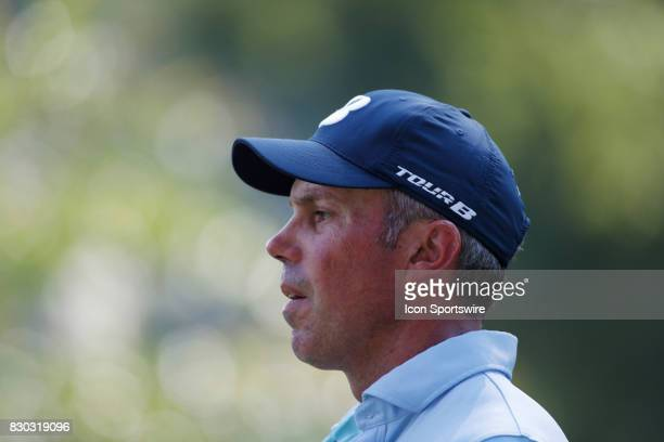 Matt Kuchar walks the 18th hole during the second round of the PGA Championship on August 11 2017 at Quail Hollow Club in Charlotte NC