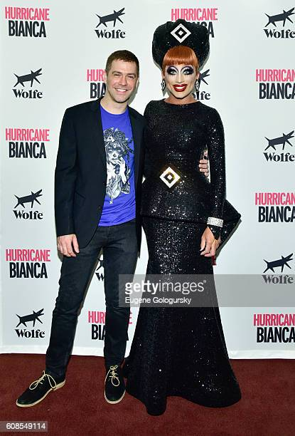 Matt Kugelman and Bianca Del Rio attend the US Premiere Of HURRICANE BIANCA Starring Bianca Del Rio at DGA Theater on September 19 2016 in New York...