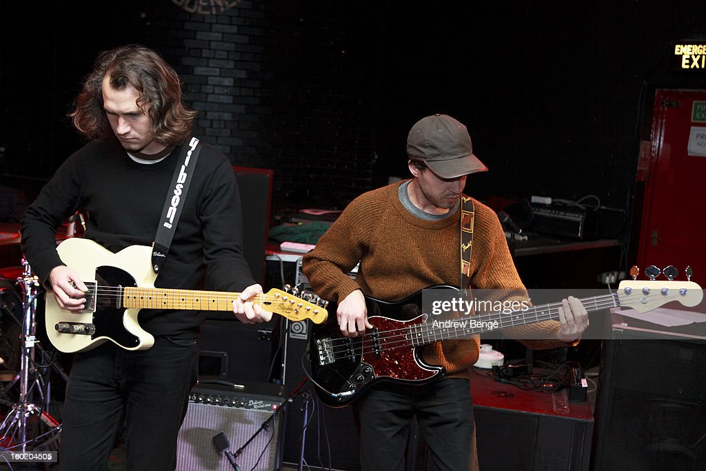 Matt Lamkin and David Lantzman of The Soft Pack perform on stage at Brudenell Social Club on January 27, 2013 in Leeds, England.
