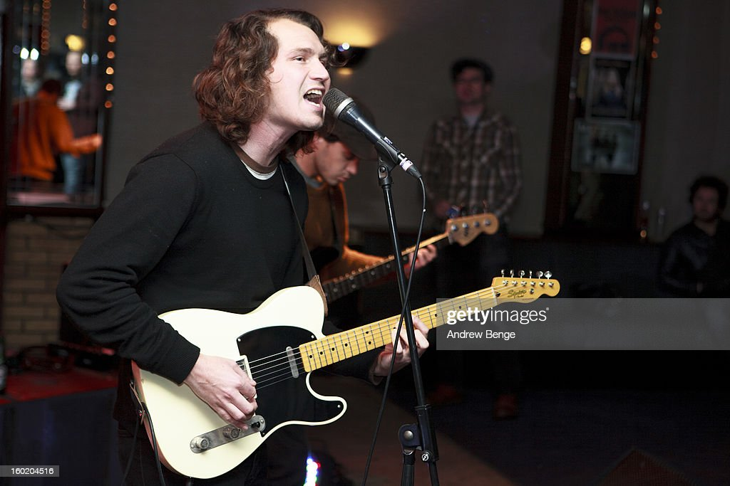 Matt Lamkin of The Soft Pack perform on stage at Brudenell Social Club on January 27, 2013 in Leeds, England.
