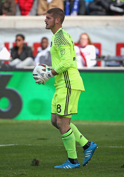 Matt Lampson playing for the Columbus Crew
