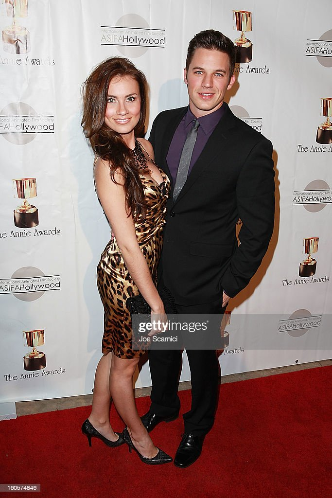 Matt Lanter and date arrive at the 40th Annual Annie Awards at Royce Hall on the UCLA Campus on February 2, 2013 in Westwood, California.