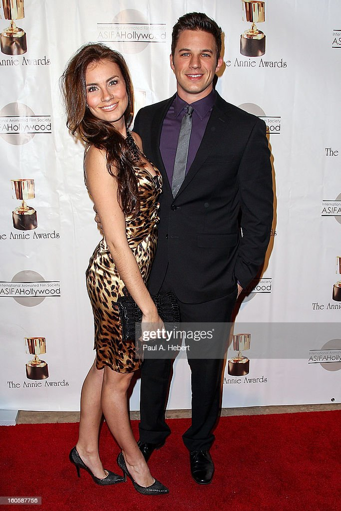 Matt Lanter (R) and guest arrive at the 40th Annual Annie Awards held at Royce Hall on the UCLA Campus on February 2, 2013 in Westwood, California.