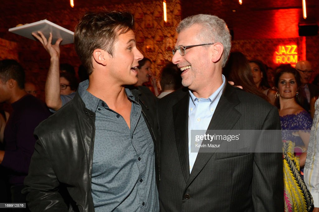 <a gi-track='captionPersonalityLinkClicked' href=/galleries/search?phrase=Matt+Lanter&family=editorial&specificpeople=585848 ng-click='$event.stopPropagation()'>Matt Lanter</a> and President, The CW, Mark Pedowitz attend The CW Network's 2013 Upfront party at FINALE on May 16, 2013 in New York City.