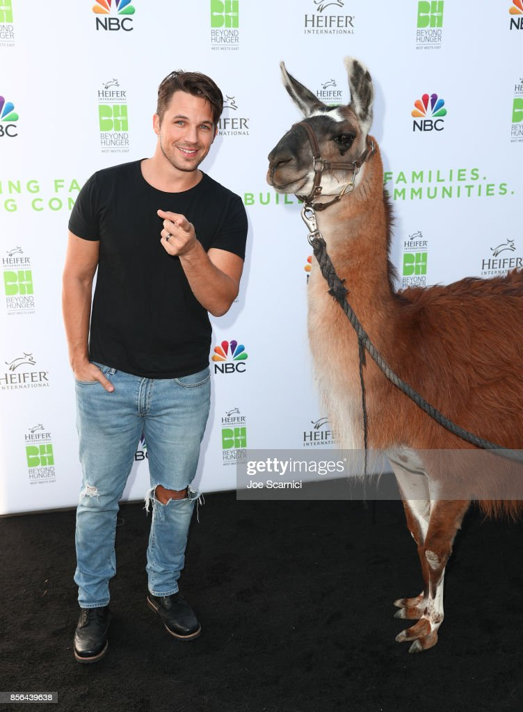 Matt Lanter attends 'Beyond Hunger: West Meets East' brought to you by NBC Universal and Heifer International at NBC Universal Lot on October 1, 2017 in Universal City, California.