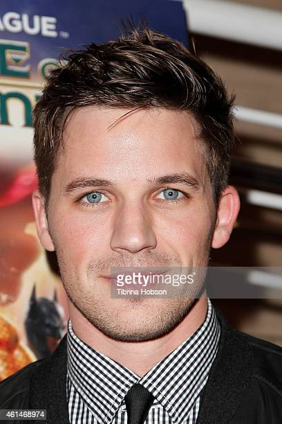 Matt Lanter attends the world premiere of 'Justice League Throne Of Atlantis' at The Paley Center for Media on January 12 2015 in Beverly Hills...