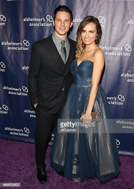 Matt Lanter left and Angela Lanter attend the 23rd Annual 'A Night At Sardi's' To Benefit The Alzheimer's Association at The Beverly Hilton Hotel on...