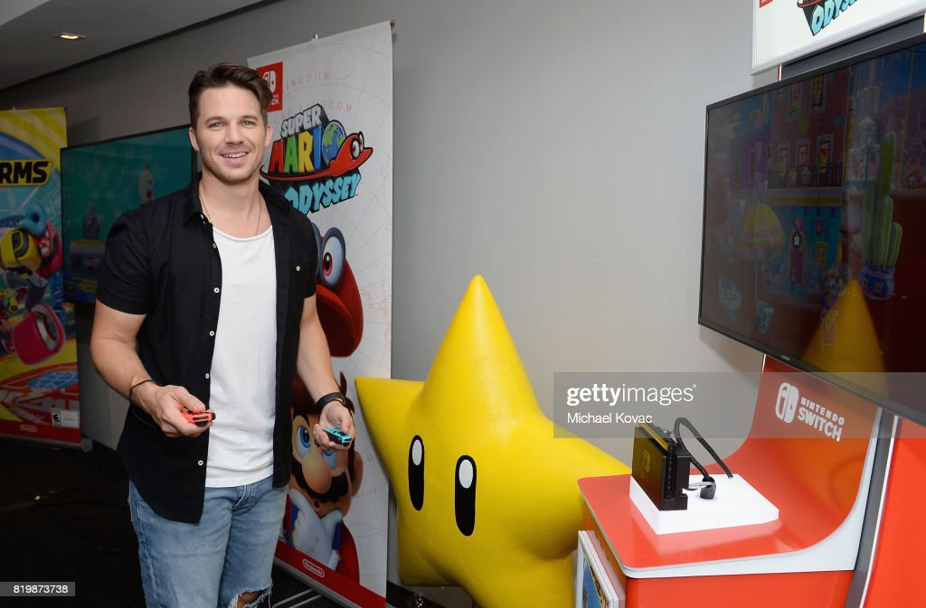 Matt Lanter of the television series 'Timeless' stopped by Nintendo at the TV Insider Lounge to check out Nintendo Switch during Comic-Con International at Hard Rock Hotel San Diego on July 20, 2017 in San Diego, California.