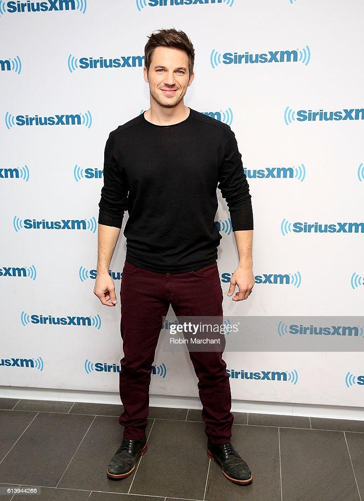 Matt Lanter visits at SiriusXM Studio on October 11, 2016 in New York City.