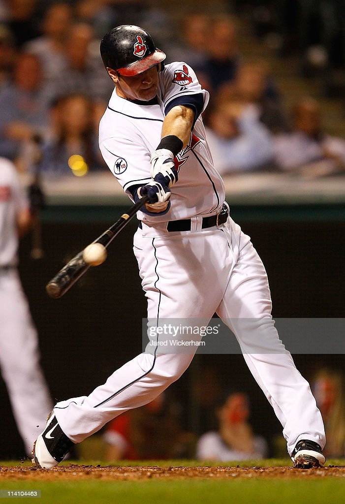 <a gi-track='captionPersonalityLinkClicked' href=/galleries/search?phrase=Matt+LaPorta&family=editorial&specificpeople=2315200 ng-click='$event.stopPropagation()'>Matt LaPorta</a> #7 of the Cleveland Indians hits an RBI double against the Tampa Bay Rays in the 8th inning during the game on May 11, 2011 at Progressive Field in Cleveland, Ohio.