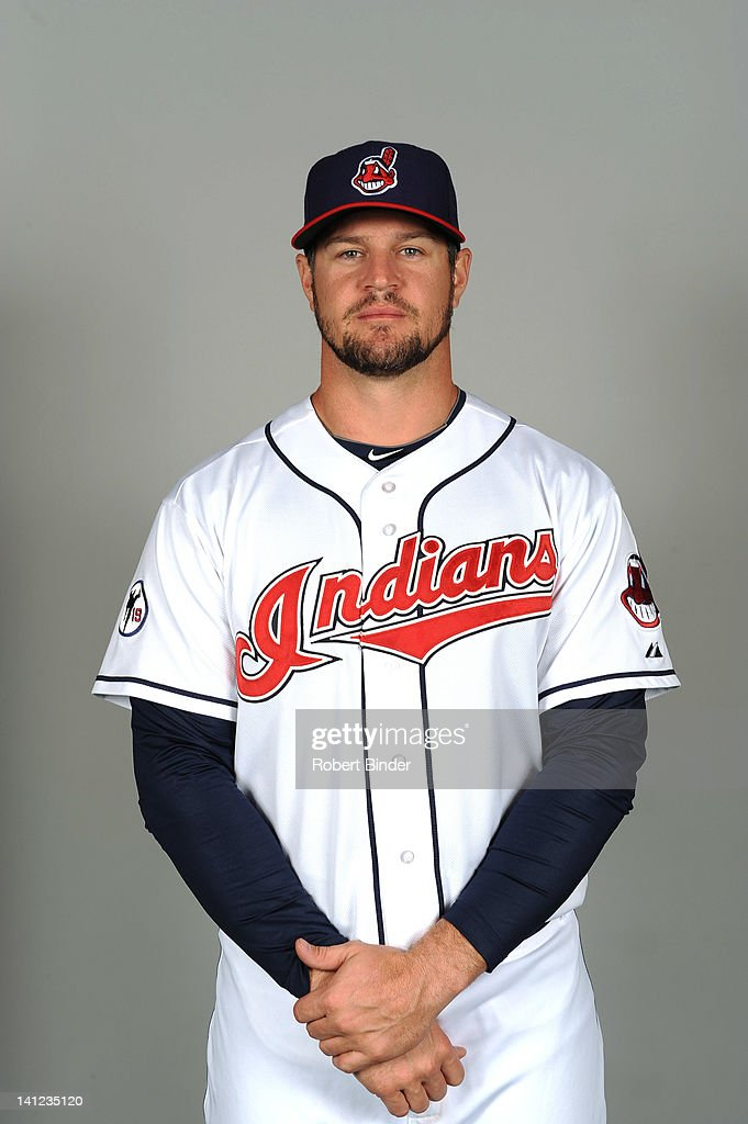 Matt LaPorta of the Cleveland Indians poses during portrait session on February 29 2012 in Glendale Arizona