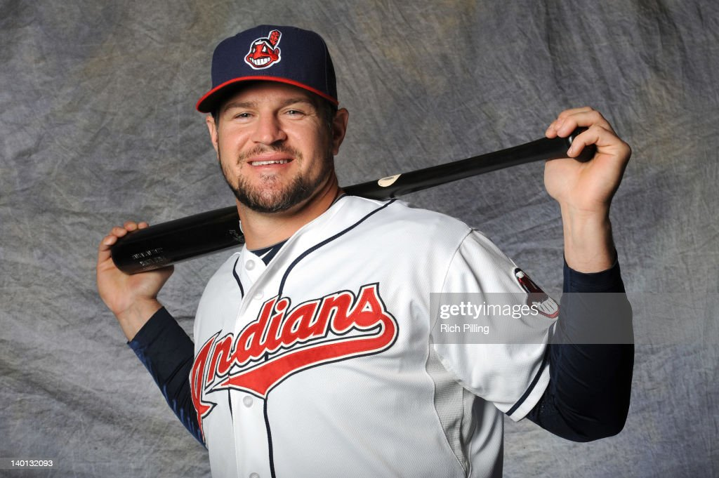 Matt LaPorta of the Cleveland Indians poses for a portrait during a photo day at Goodyear Ballpark on February 28 2012 in Goodyear Arizona