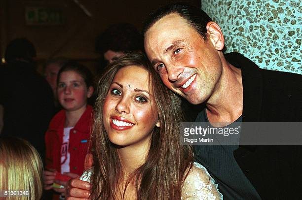 JUNE 27 2002 Matt Lattanzi and daughter Chloe Lattanzi at the opening night post performance party of the musical Hair at the Melbourne concert hall...