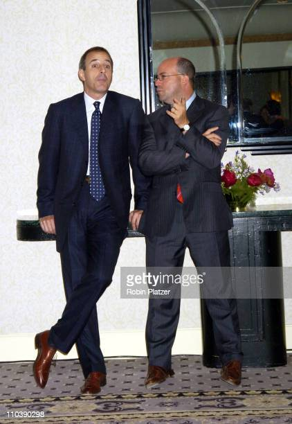 Matt Lauer and Jeff Zucker during The Phoenix House Benefit Honors Jeff Zucker with Phoenix Rising Award at The Waldorf Astoria Hotel in New York...