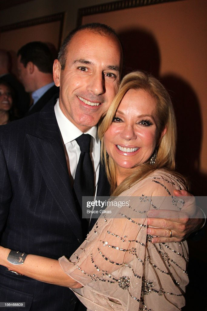 <a gi-track='captionPersonalityLinkClicked' href=/galleries/search?phrase=Matt+Lauer&family=editorial&specificpeople=206146 ng-click='$event.stopPropagation()'>Matt Lauer</a> and <a gi-track='captionPersonalityLinkClicked' href=/galleries/search?phrase=Kathie+Lee+Gifford&family=editorial&specificpeople=203269 ng-click='$event.stopPropagation()'>Kathie Lee Gifford</a> attends the opening night of 'Scandalous' on Broadway at the Neil Simon Theatre on November 15, 2012 in New York City.