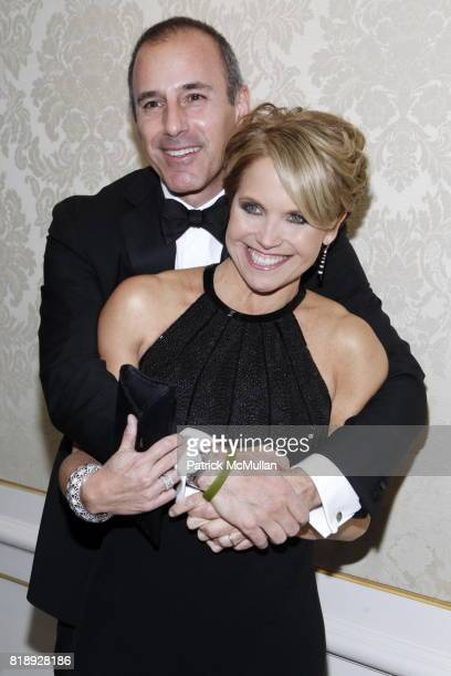 Matt Lauer and Katie Couricr attend MUSEUM Of The MOVING IMAGE Dinner In Honor Of KATIE COURIC And PHIL KENT at St Regis Hotel on May 5 2010 in New...