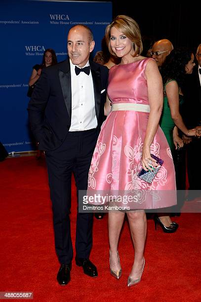 Matt Lauer and Savannah Guthrie attend the 100th Annual White House Correspondents' Association Dinner at the Washington Hilton on May 3 2014 in...