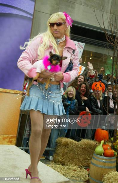Matt Lauer as Paris Hilton during Halloween at the 'Today' Show at Rockefeller Plaza in New York City New York United States