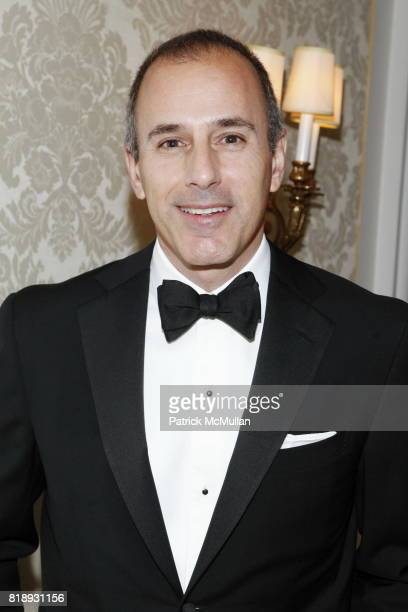 Matt Lauer attends MUSEUM Of The MOVING IMAGE Dinner In Honor Of KATIE COURIC And PHIL KENT at St Regis Hotel on May 5 2010 in New York City