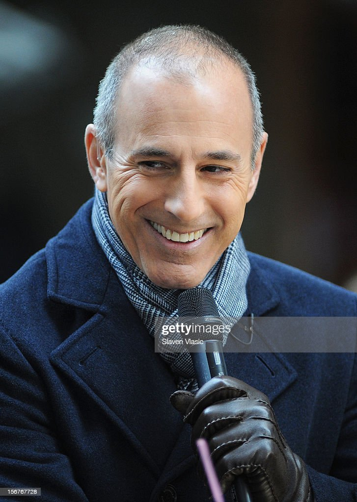 <a gi-track='captionPersonalityLinkClicked' href=/galleries/search?phrase=Matt+Lauer&family=editorial&specificpeople=206146 ng-click='$event.stopPropagation()'>Matt Lauer</a> attends NBC's 'Today' at Rockefeller Plaza on November 20, 2012 in New York City.