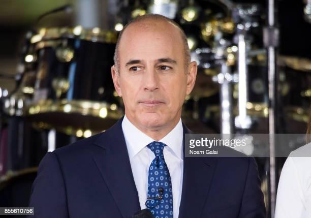Matt Lauer attends NBC's 'Today' at Rockefeller Plaza on September 29 2017 in New York City