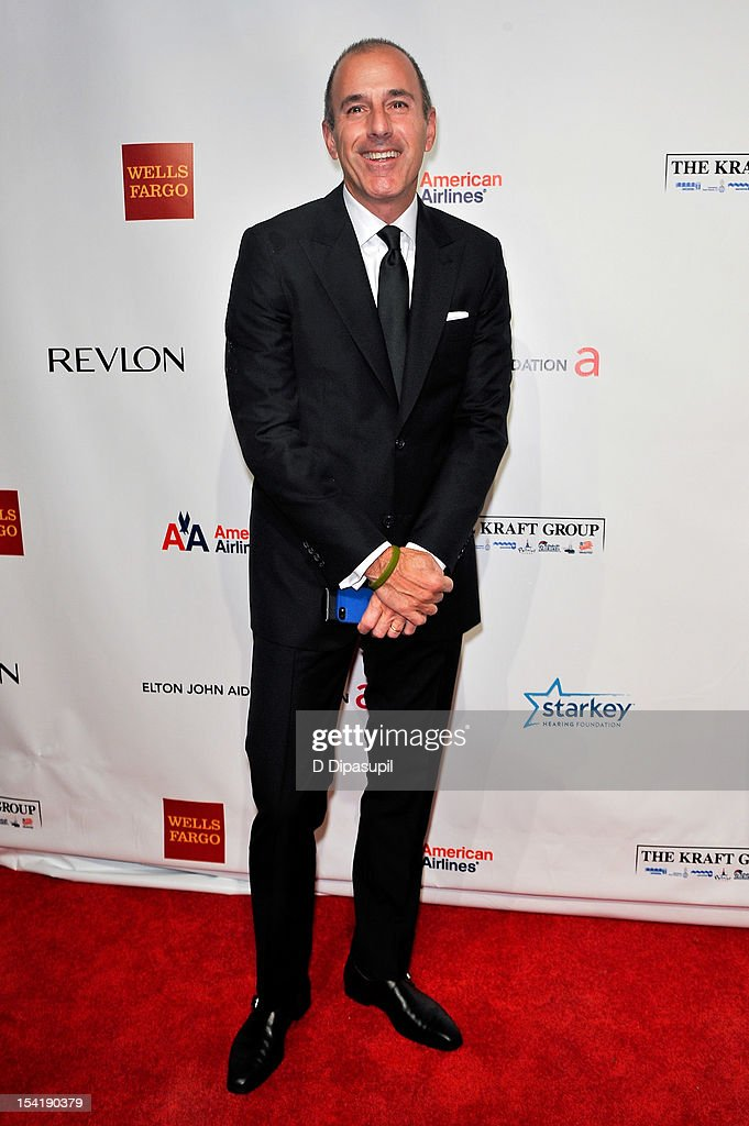 <a gi-track='captionPersonalityLinkClicked' href=/galleries/search?phrase=Matt+Lauer&family=editorial&specificpeople=206146 ng-click='$event.stopPropagation()'>Matt Lauer</a> attends the Elton John AIDS Foundation's 11th Annual 'An Enduring Vision' Benefit at Cipriani Wall Street on October 15, 2012 in New York City.