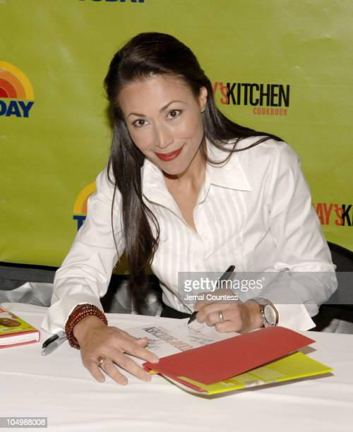Matt Lauer Katie Couric Ann Curry and Al Roker sign copies of their new book 'Today's' Kitchen Cookbook for the public at the NBC Experience Store at...